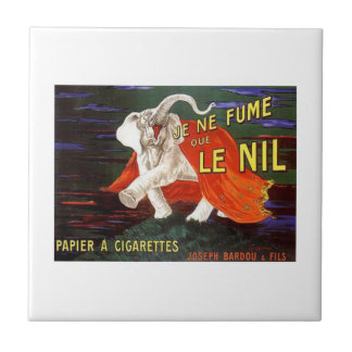 Je Ne Fume Que Le Nil Elephant Ad Small Square Tile