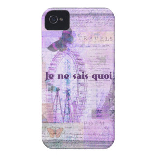 Je ne sais quoi French Phrase - Paris Theme art iPhone 4 Covers