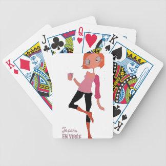 Je pars en viree bicycle playing cards
