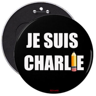 JE SUIS CHARLIE 6 CM ROUND BADGE
