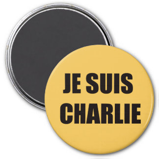 JE SUIS CHARLIE 7.5 CM ROUND MAGNET
