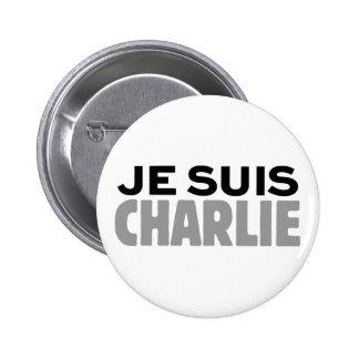 Je Suis Charlie Pinback Buttons
