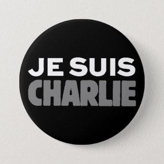 Je Suis Charlie - I am Charlie Black 7.5 Cm Round Badge