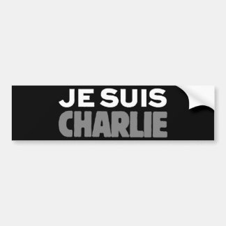 Je Suis Charlie - I am Charlie Black Bumper Sticker