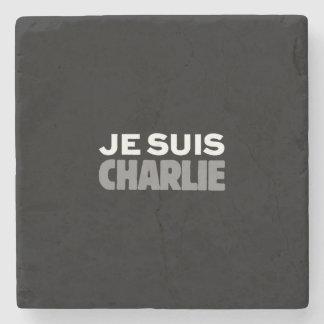 Je Suis Charlie - I am Charlie Black Stone Coaster