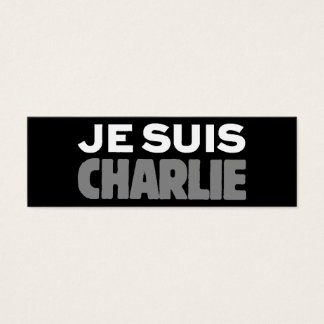 Je Suis Charlie - I am Charlie Black Mini Business Card