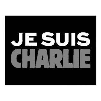 Je Suis Charlie - I am Charlie Black Postcard