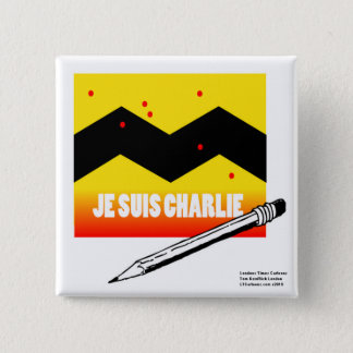 Je Suis Charlie (I Am Charlie) To Benefit Paris 15 Cm Square Badge