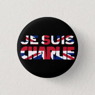 Je Suis Charlie-I am Charlie'-Union Jack UK 3 Cm Round Badge
