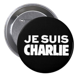 Je Suis Charlie-I am Charlie-White on Black Pins