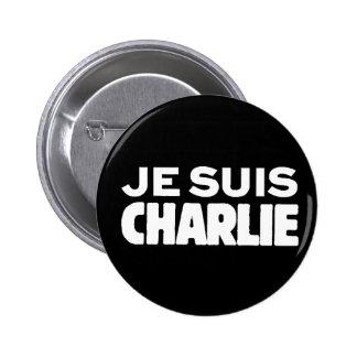 Je Suis Charlie-I am Charlie-White on Black Pin