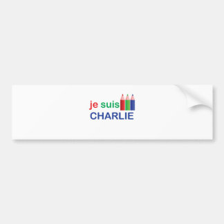 Je Suis Charlie Multi Colour Bumper Sticker