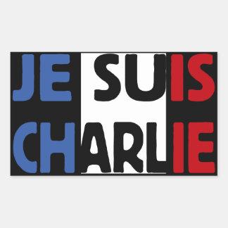 Je Suis Charlie My Pen is my Weapon Rectangular Sticker
