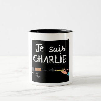 Je Suis CHARLIE Two-Tone Coffee Mug
