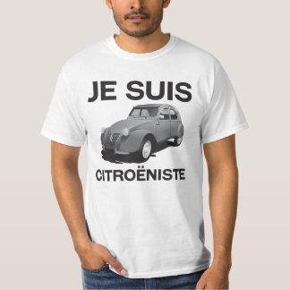 Je suis citroëniste - original grey Citroën 2CV T-Shirt