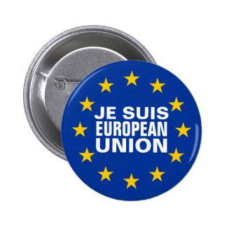Je suis European Union 6 Cm Round Badge