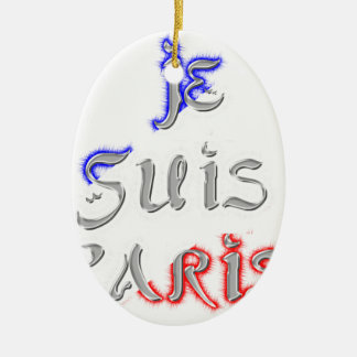 Je Suis Paris I love Paris Ceramic Oval Decoration