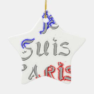Je Suis Paris I love Paris Ceramic Star Decoration