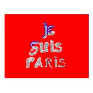 Je Suis Paris I love Paris Postcard Horizontal