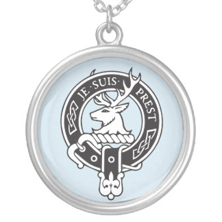 Je Suis Prest - Clan Fraser Crest Silver Plated Necklace