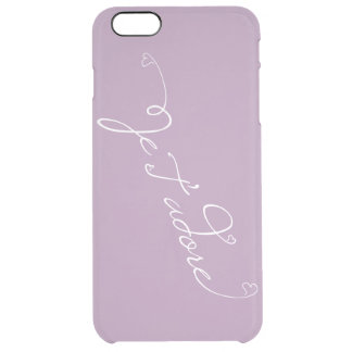 Je T'adore French Script meaning I Adore You Clear iPhone 6 Plus Case