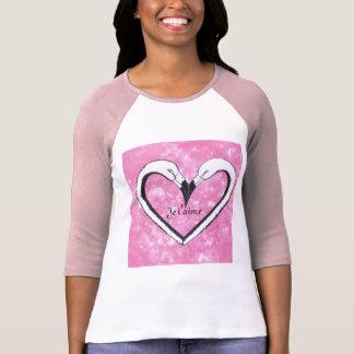 Je t'aime,Flamingo Kiss Heart by SandyCloss Tees