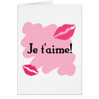 Je t'aime! - French I love you Card