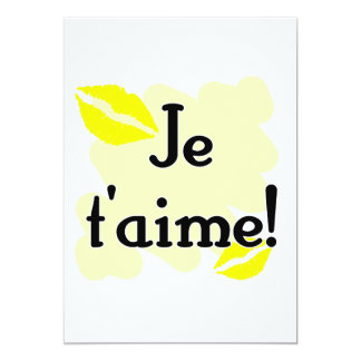 Je t'aime! - French I love you Personalized Announcements