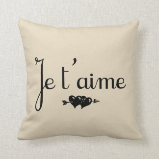 Je t'aime I Love You French Farmhouse Throw Pillow