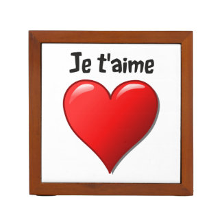 Je t'aime - I love you in French Pencil/Pen Holder