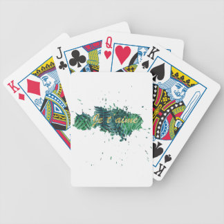 Je t'aime I love you tropical leaf Bicycle Playing Cards