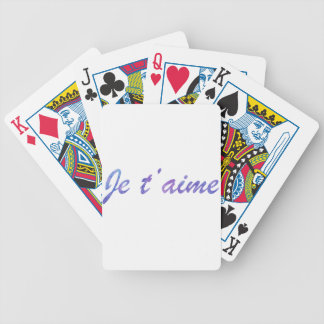 Je t'aime Water colour purple I love you Bicycle Playing Cards