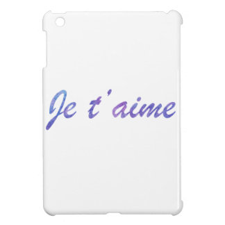 Je t'aime Water colour purple I love you iPad Mini Cases