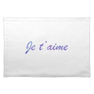 Je t'aime Water colour purple I love you Placemat