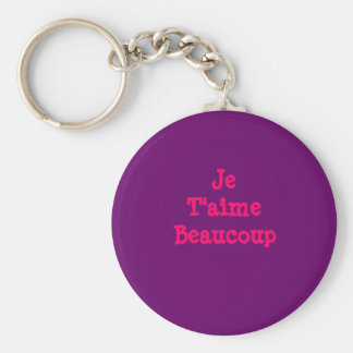 Je T'aimeBeaucoup Basic Round Button Key Ring