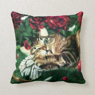 Jealous Cat Throw Pillow