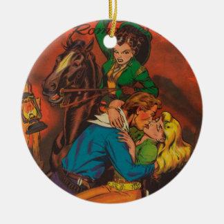 Jealous Cowgirl Ceramic Ornament