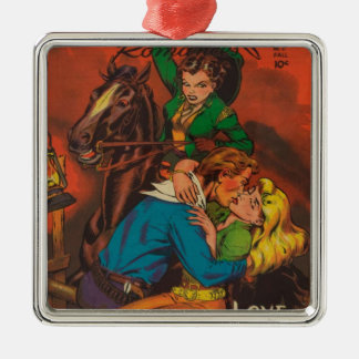 Jealous Cowgirl Metal Ornament
