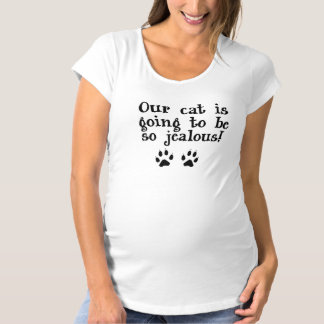 Jealous Pet Maternity Shirt with Cat Paws