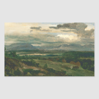 Jean-Baptiste-Camille Corot - Civita Castellana Rectangular Sticker