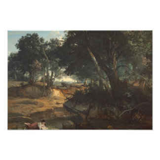 Jean-Baptiste-Camille Corot - Forest of Photo Print