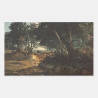 Jean-Baptiste-Camille Corot - Forest of Rectangular Sticker