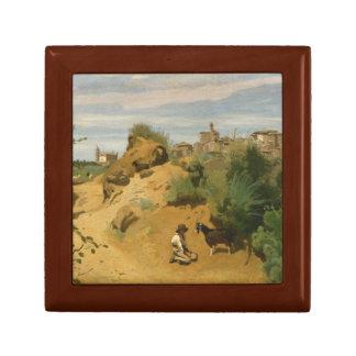 Jean-Baptiste-Camille Corot - Genzano Small Square Gift Box