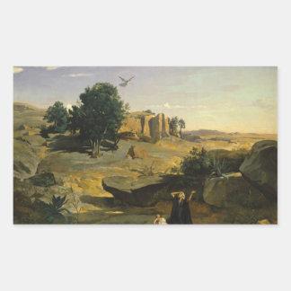 Jean-Baptiste-Camille Corot - Hagar Rectangular Sticker