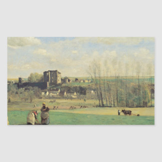 Jean-Baptiste-Camille Corot - Landscape Rectangular Sticker