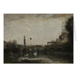 Jean-Baptiste-Camille Corot -Landscape with Bridge Card