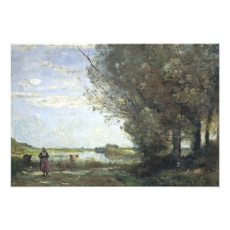 Jean-Baptiste-Camille Corot - River View Photo Print