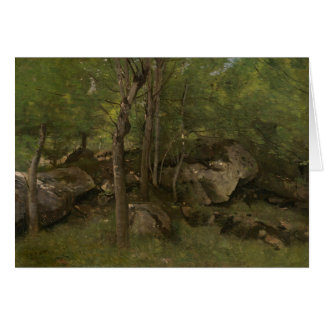 Jean-Baptiste-Camille Corot - Rocks in the Forest Card