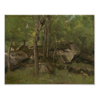 Jean-Baptiste-Camille Corot - Rocks in the Forest Photo Print