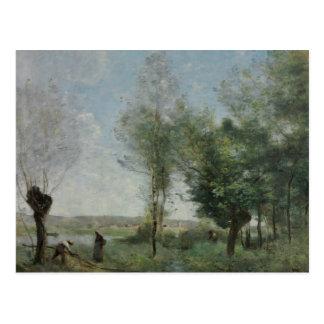 Jean-Baptiste-Camille Corot - Souvenir of Coubron Postcard